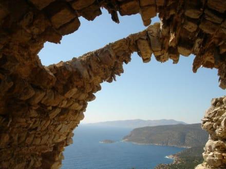 Monolithos - noch ein Blick auf's Meer! - Johanniterfestung Monolithos
