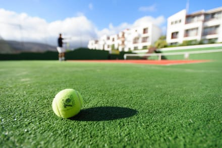 Artificial grass tennis court -