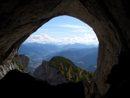 Blick aus der Eishöhle - Eisriesenwelt Werfen