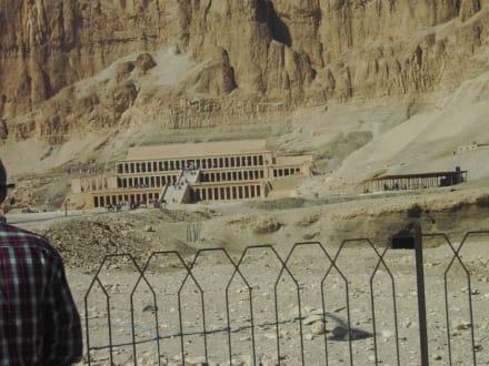 Schon von Weitem beeindruckend - Tempel der Hatschepsut