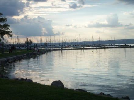 Hafen im Sonnenuntergang - Hafen Siofok