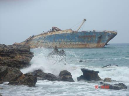 Schiffswrack American Star an Westküste - Wrack der American Star (existiert nicht mehr)