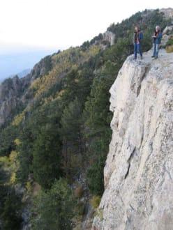 Mutig - Bilder leider nicht drehbar - Sandia Peak