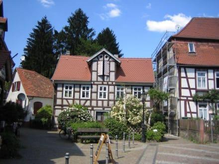 Ein kleiner Platz in der Altstadt von Gelnhausen. - Altstadt Gelnhausen