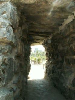 Eingang in die Festungsanlage - Ruinen von Tulum