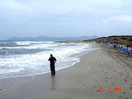Der kleine Mann und das große Meer - Strand Can Picafort