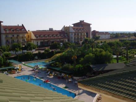 Ausblick vom Balkon - Hotel Side Breeze