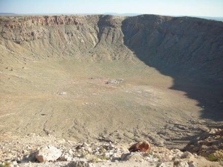 Schon ein ziemliches Loch - Meteor Crater