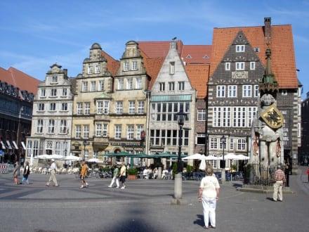Der Roland auf dem Marktplatz - Bremer Roland