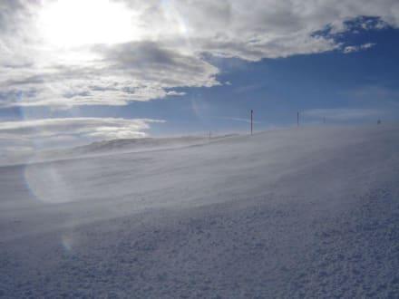 Sturm auf dem Gamserrugg - Skigebiet Toggenburg