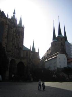 Der Dom und die Serverikirche. - Erfurter Dom