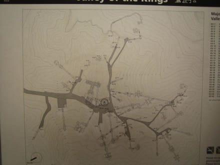 Lageplan vom Tal der Könige - Tal der Könige