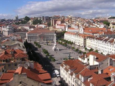 Blick auf den Rossio - Rossio / Praça de D. Pedro IV