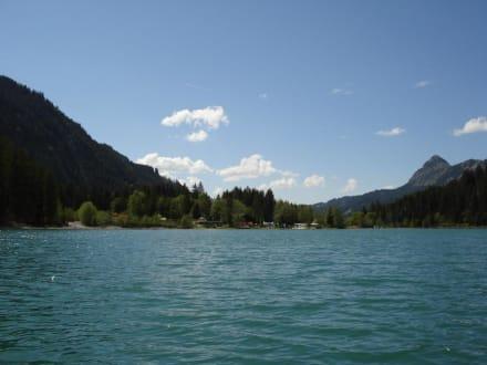Haldensee ca. 1km entfernt Ferienwohnungen Sonnengruss - Haldensee