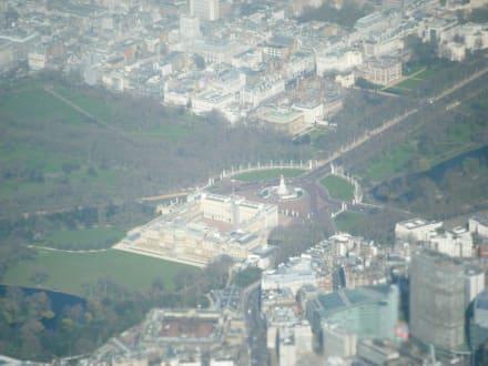 Blick aus der Flugzeug - Buckingham Palace