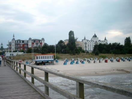 Blick auf die Strandpromenade - Strand Zinnowitz