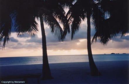 Einer von wunderschönen Sunsets - Strand Jolly Harbour