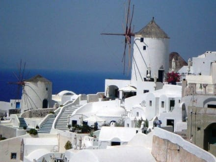 Ausflug nach Oia. - Windmühlen