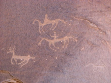 Felszeichnungen im Canyon de Chelly, Arizona - Canyon de Chelly National Monument