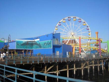 Blick auf den Pacific Park - Santa Monica Pier