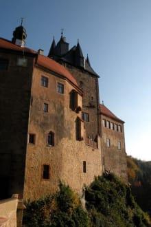 Blick vom Burgzugang - Burg Kriebstein