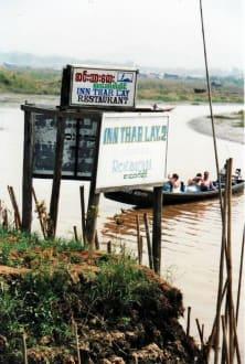 Ankunft mit dem Boot - Inn Thar Lay Restaurant