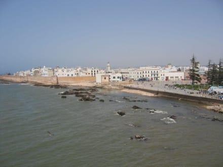 Blick zur Stadt - Hafen Essaouira