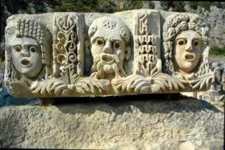 Fries eines röm. Bühnenhauses in Myra - Felsengräber von Myra