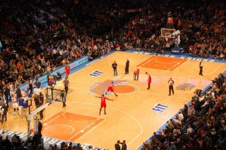 Spiel Der New York Knicks Im Madison Square Garden Bild Madison