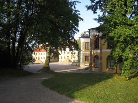 Die Seitengebäude vom Schloss Belvedere - Schloß Belvedere