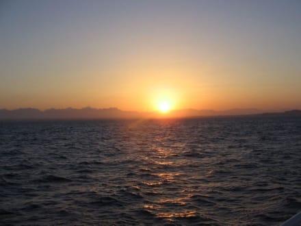 Sonnenuntergang in Ägypten - Tauchkreuzfahrt