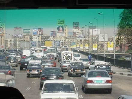 Verkehr in Kairo 2003 - Zentrum Kairo
