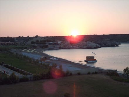 Sonnenaufgang 05.53 Uhr Balkonblick links - Hafen Kolymbia