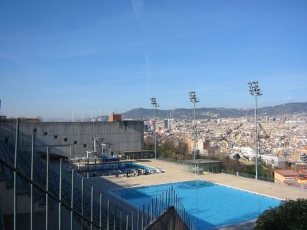 Schwimmstadion Oympische Spiele 1992 Barcelona - Olympiapark Barcelona