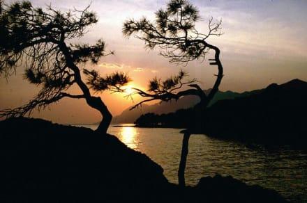 Sonnenuntergang in Brela - Strand Punta Rata