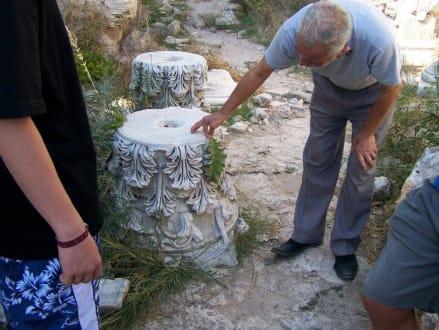 Reliefsteine mit Blütenmuster - Ruinen Side