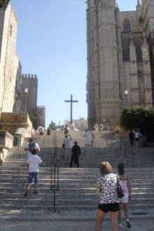 Weg zur Kathedrale - Kathedrale La Seu