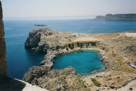 Der Hafen des Apostel Paulus - Akropolis von Lindos
