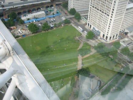 Blick vom London Eye nach unten - London Eye