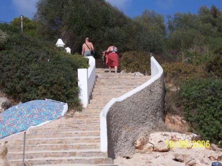 Treppe zum Strand - Cala Marçal