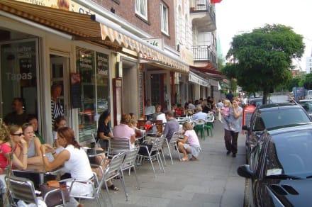 Typische Straßencafès - Portugiesisches Viertel