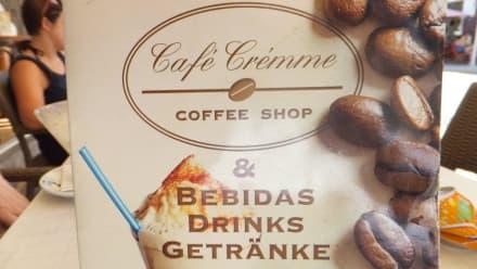 Speisekarte - Cafe Cremme