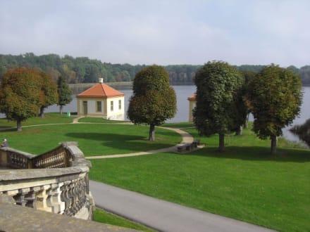 Blick von der Schloßterrasse - Schloss Moritzburg