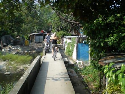 Schmale Stege - Recreational Bangkok Biking