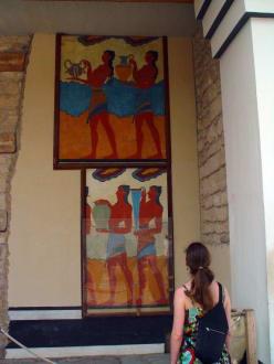 Wandbilder in Knossos - Knossos
