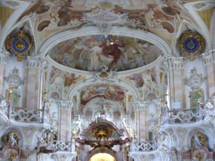 Barocke Malerei im Inneren - Wallfahrtskirche Birnau Uhldingen