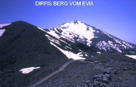 Die großte Berg Evias' Dirfis - Dirfis Gebirge