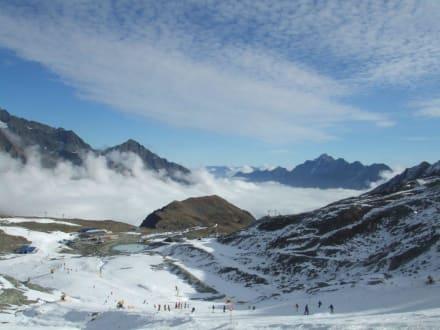 Blick auf den Gamsgarten - Skigebiet Stubaital