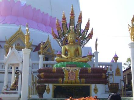 Am Sockel - Weisser Buddha