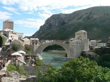 Mostar Handelszentrum im Otomanenreich - Brücke Stari Most